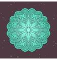 Green ethnics mandala on broun background vector image
