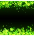 Green shining bokeh frame abstract background vector image vector image