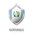 guatemala flag on metal shiny shield vector image