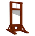 guillotine on white background vector image