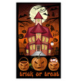 halloween card design trick or treat vector image