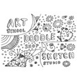 hand drawn art doodle and sketch elements vector image