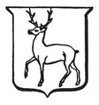 heraldry trippant have depicts a male deer vector image vector image