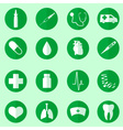 hospital and medical icons set in circle eps10 vector image