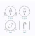 Ice cream candy icons vector image vector image