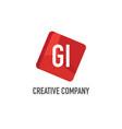 initial letter gi logo template design vector image vector image