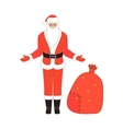 Isolated Santa Claus vector image vector image