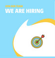 join our team busienss company dart game we are vector image vector image