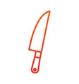 kitchen knife cutlery steel supply vector image