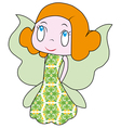 Little fairy beautiful fairy a fun fairy vector image vector image