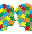 man and woman puzzle vector image vector image
