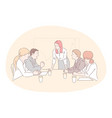 meeting teamwork analysis cooperation vector image