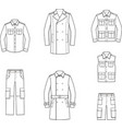 mens clothes vector image
