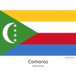 National flag of Comoros with correct proportions vector image vector image