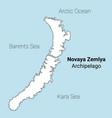 novaya zemlya map vector image
