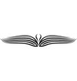 Ornament Wing Silhouette vector image vector image