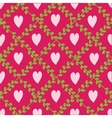 Pattern with floral elements and hearts vector image vector image