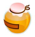 premium honey jar icon isometric style vector image