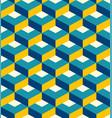 retro 3d flat diamonds pattern vector image vector image
