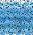 Seamless background of abstract blue waves vector image vector image