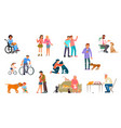 set friendship and dearness vector image vector image