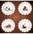 set of coffee design elements vector image vector image