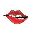 sexy lips cartoon vector image vector image