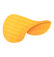 snack chips icon cartoon style vector image