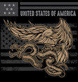 snake and eagle flag usa america logo design vector image vector image