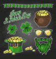 stickers set for saint patricks day vector image