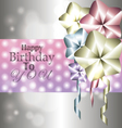 Stylish shiny card for birthday with balloons vector image vector image