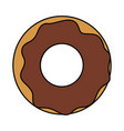 sweet donut icon image vector image vector image