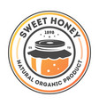 sweet honey vintage isolated label vector image vector image