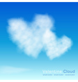 Valentine cloud on the sky background vector image vector image