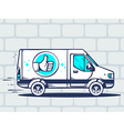 van with label thumb up free and fast del