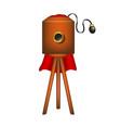 vintage camera in wooden design vector image vector image