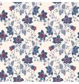 vintage floral seamless blue flower vector image