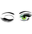 winking green vector image vector image