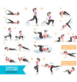 Woman workout fitness aerobic and exercises vector image vector image
