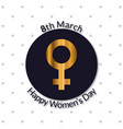 women day typogrpahic greetings card with pattern vector image