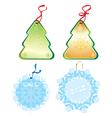 xmas label vector image