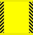 yellow and black warning background vector image vector image