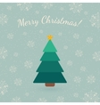 Christmas tree on winter backdrop vector image