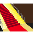 Red carpet staircase background vector image