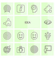 14 idea icons vector image vector image