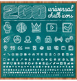 200 Universal Icons in chalk doodle style Set 2 vector image vector image