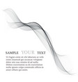 abstract smooth gray wave curve flow grey vector image