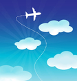 Airplane Flying on the Blue Sky vector image vector image