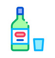 alcohol bottle icon outline vector image vector image