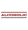 Alcoholic Watermark Stamp vector image vector image